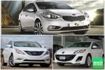 So sánh xe ôtô Mazda 3 và Kia K3