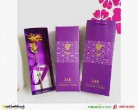 Quà tặng 20/10 cho bạn gái với hoa hồng 3D mạ vàng đẹp