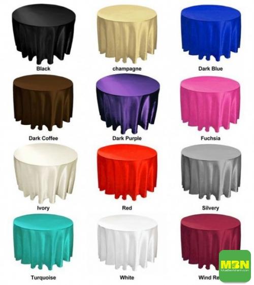 Chọn khăn trải bàn tròn theo màu sắc và họa tiết
