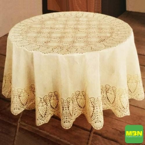 khăn trải bàn tròn đẹp