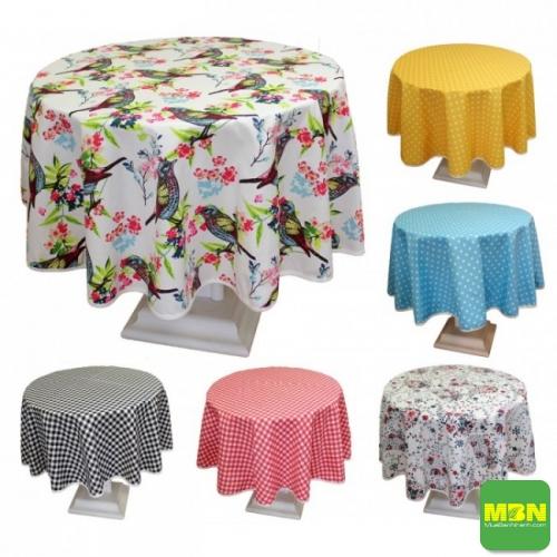 khăn trải bàn tròn đẹp - 2