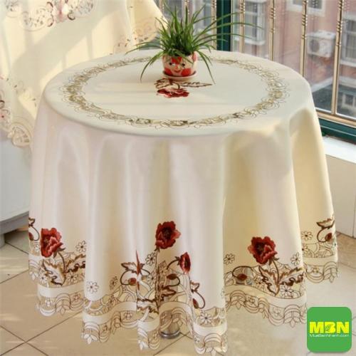 khăn trải bàn tròn đẹp - 3