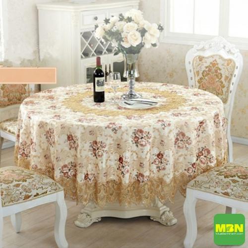 khăn trải bàn tròn đẹp - 4