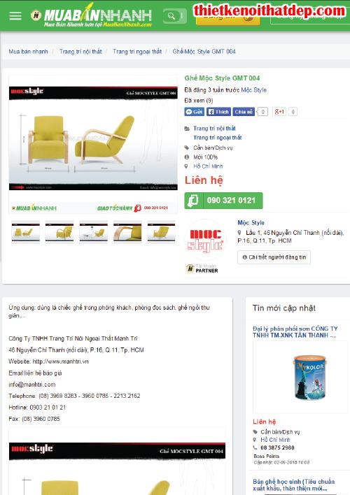 Công ty Gỗ Thông Pallet Mộc Style với VIP MuaBanNhanh.com, 34, Bichvan, Thiết Kế Nội Thất Đẹp, 21/10/2015 13:32:44