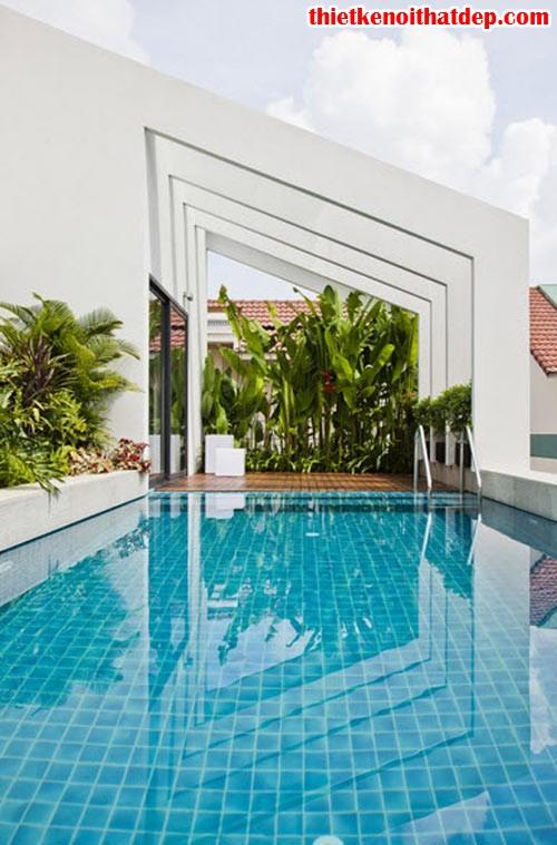 [Mẫu thiết kế nội thất đẹp] Bể bơi tuyệt đẹp trên nóc nhà 3 tầng ở Tp.HCM, 36, Mai Tâm, Thiết Kế Nội Thất Đẹp, 29/09/2016 17:20:37