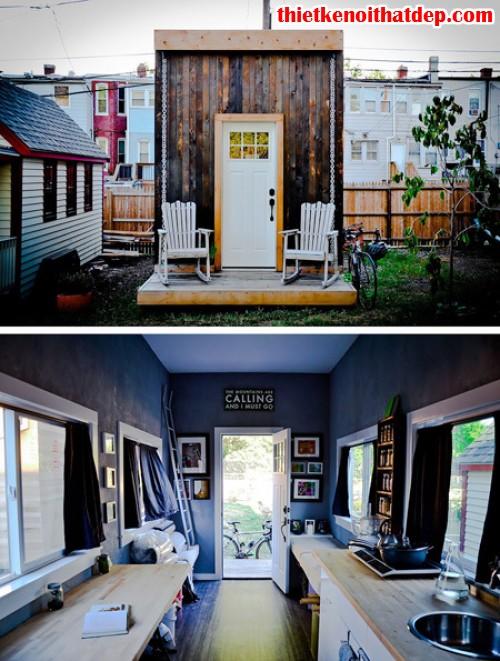 nhà nhỏ sáng màu